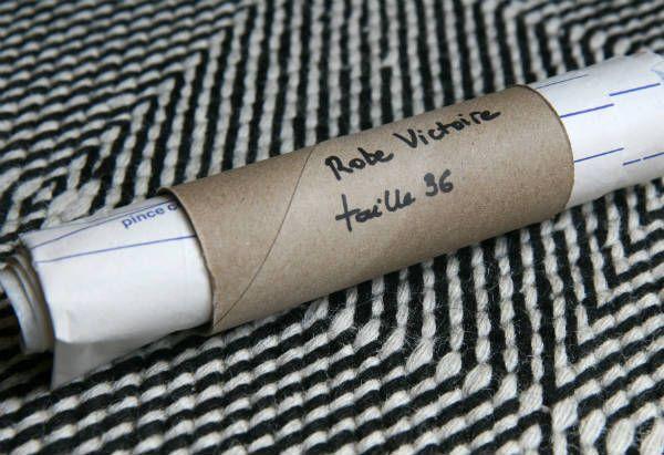 astuce patron rouleau papier toilette Stocker ses patrons de couture dans des tubes de papier toilette
