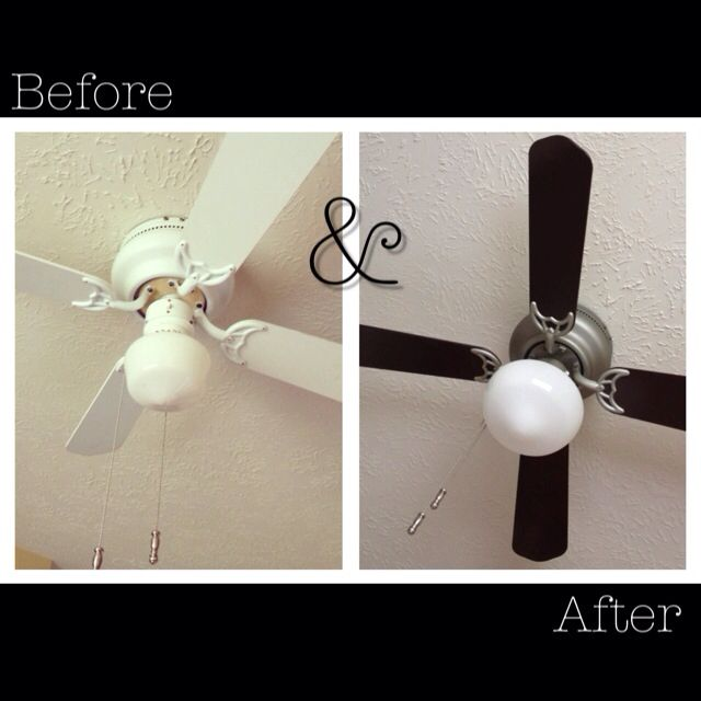 Ceiling fan makeover, why buy a new fan when re cycling your existing one can look like new.