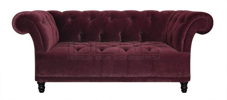 Przepiękna sofa chesterfield, radość domowników, chluba gospodarza, zazdrość gości. Pikowane siedzisko i pikowane oparcie eksluzywny produkt dla koneserów.  Sofa Chesterfield, Dorset - IdealMeble