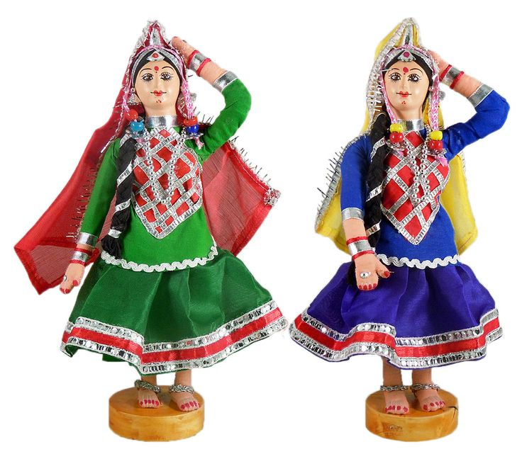 Pair of Rajasthani Folk Dancers (Cloth)