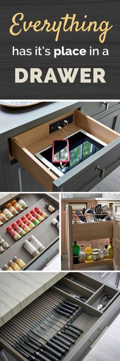 Visit our Idea Gallery to see how Docking Drawer's in-drawer power outlets and charging stations help to keep your bathroom and kitchen organized and clutter-free!