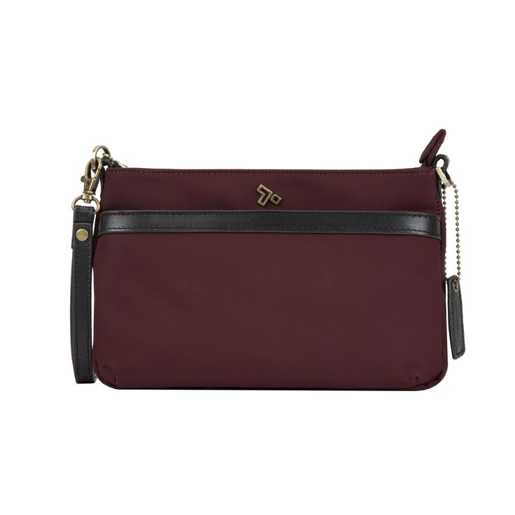 Leather Statement Clutch - passionfruit by VIDA VIDA