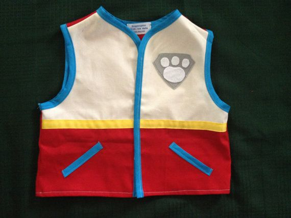 ADULT Ryder Paw Patrol inspired vest. Perfect for Halloween or birthdays. Paw applique on back. Also available in childrens sizes in my shop. Vests are Cotton Twill Fabric - NOT made out of felt! Vests have 4 velcro strip closures in front for safety and ease. washable.  HALLOWEEN -Orders placed in September will take 2 -3 weeks to ship. Last year, no orders were accepted after September 25th because of the huge volume! DONT BE DISAPPOINTED! ORDER EARLY!!  Men's Sizes Length measurement is…