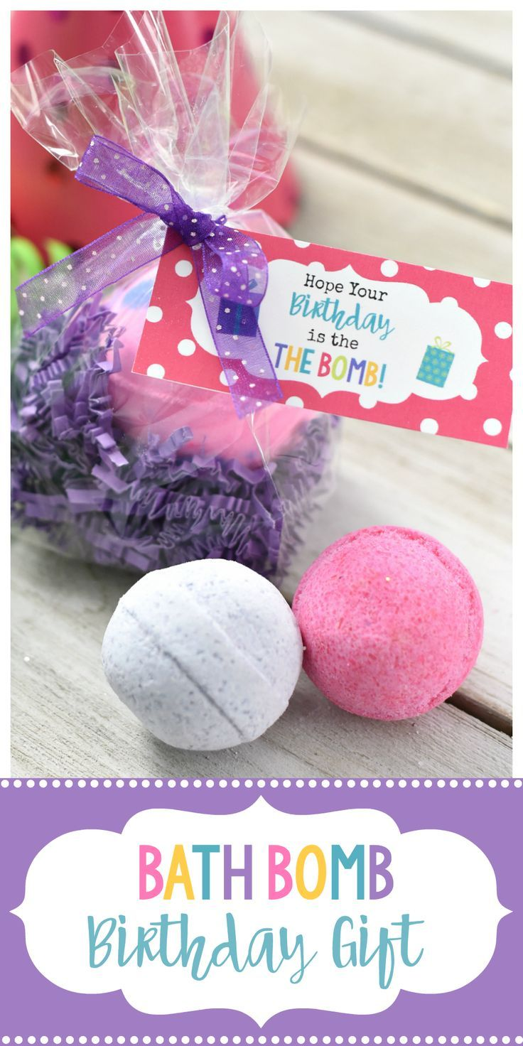 Cute Bath Bomb Birthday Gift This Simple Spa Is A Perfect Idea For Friends Creative That They Will Love