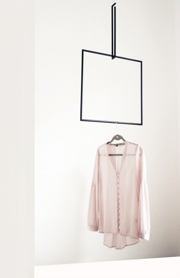 Colgadores geométricos // Cuadrado negro // Studio M+S (Melissa Dupont+Sybil Roose)