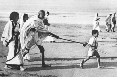 Gandhi - Father of Nation at Dhandi March, Gujrat India