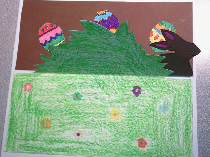 Bricolage de Pâques – Carte de vœux – Pop-up lapin | la maîtresse a des yeux dans le dos