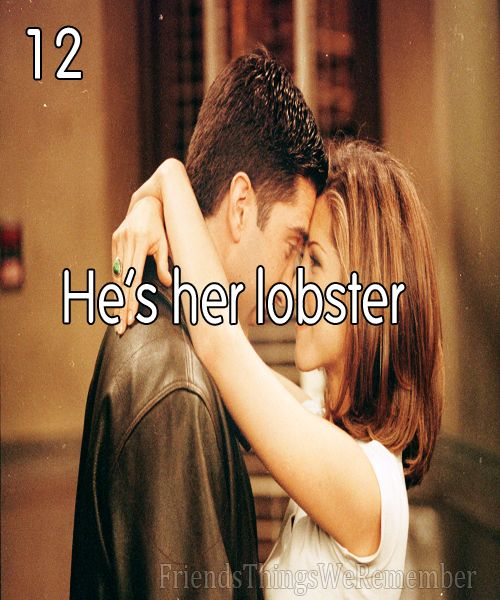 Love this... Michael always holds lobster claws with me because of this episode.. <3