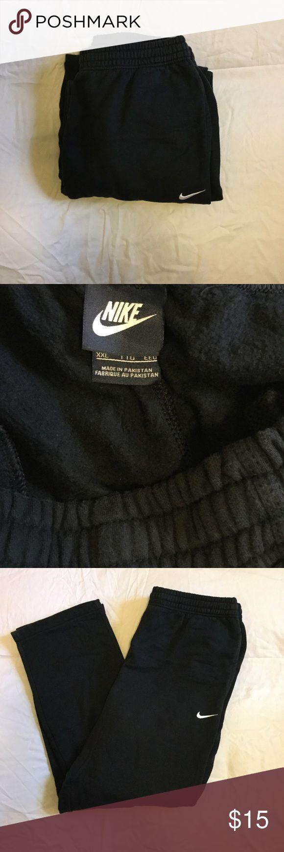 Men's Nike Sweatpants. All black Nike Sweatpants. Cotton material. Super soft. Good condition. Offers welcome. Nike Pants Sweatpants & Joggers
