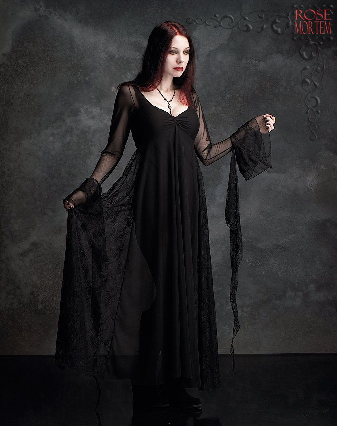 Juliet Fairy Gown in Mesh and Lace - Custom Elegant Gothic Clothing and Dark Romantic Couture. $269.00, via Etsy.