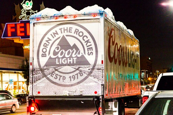 TSN Advertising & Coors Light 3D Rocky Mountains in Downtown Los Angeles