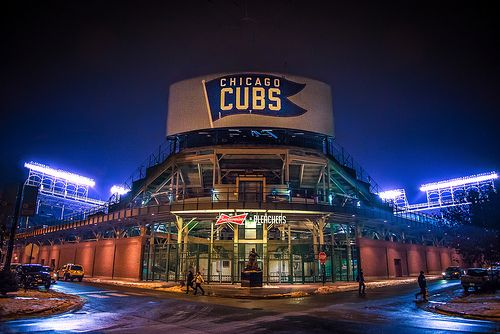 Wrigley Field, Chicago. Photo by Deirdre Hayes
