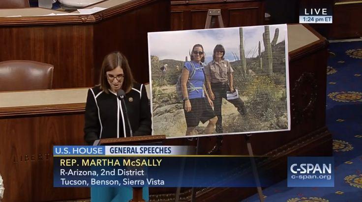 Who: Representative Martha McSally (R-Arizona)  When: June 2016  What: Saguaro national park  Watch on C-SPAN  Read Congressional Record