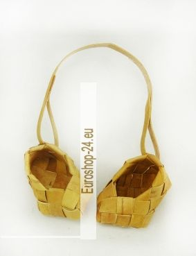 Lapti /Lapotochki, Geschenk aus Birkenrinde. 5cm pro Schuh
