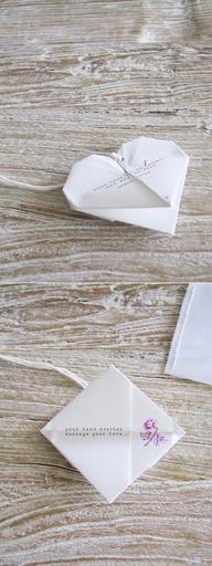 tarjetas de casamiento en origami
