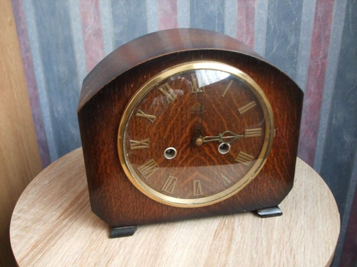 Nice condition and in working order. Strikes the half hour and hours on a gong. Has a winding key. Oak veneered case in nice condition. Movement was cleaned & oiled in 2017. If you have not owned a mechanical clock before. | eBay!