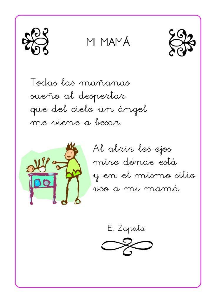 Poemas Canciones Para El Dia De La Madre Para Niños Poesias Infantiles Con Imagenes Letras De Canciones Infantiles