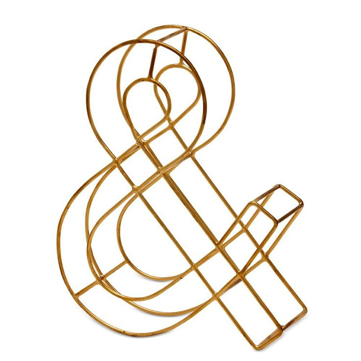 Gold Ampersand Wire Letter