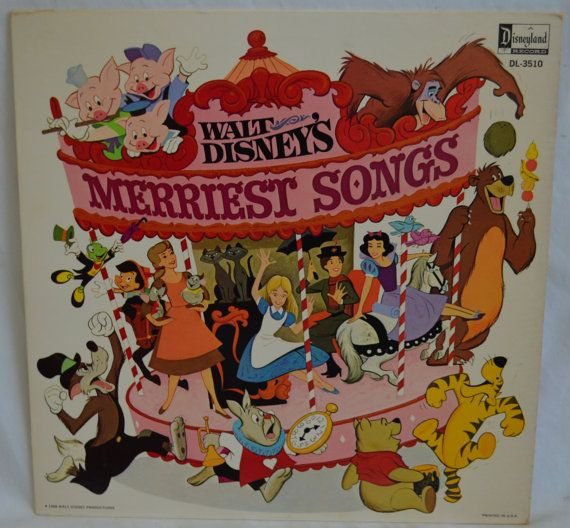 Vintage Disneyland Record Walt Disney S Merriest Songs