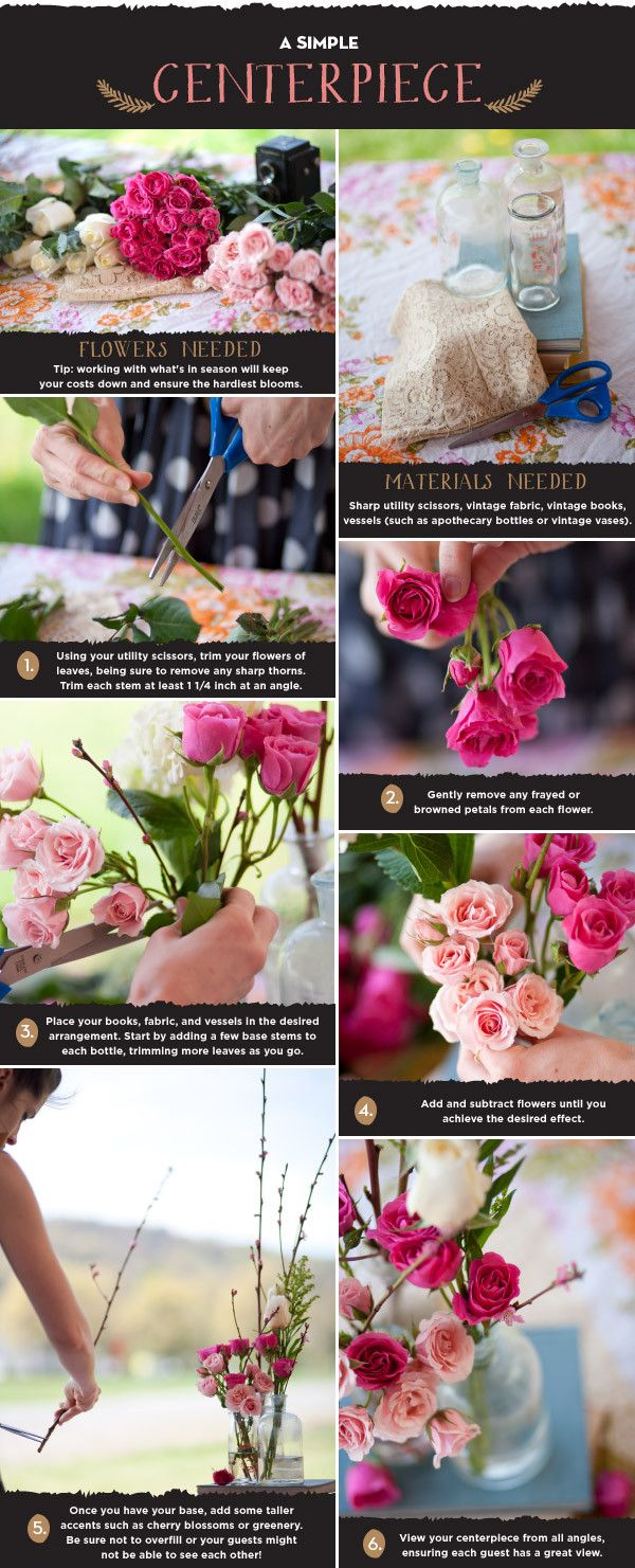 Fleur Real How To Arrange Your Own Wedding Flowers