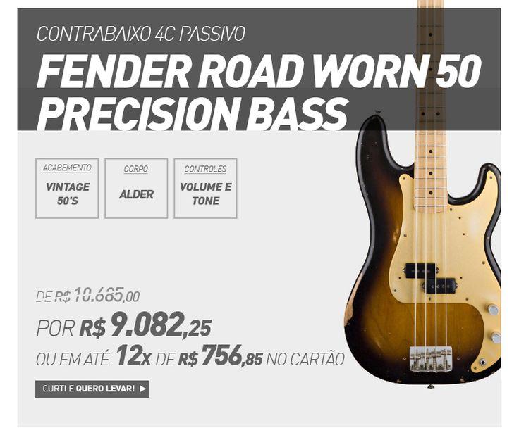 Contrabaixo 4C Passivo Fender Road Worn 50 Precision Bass
