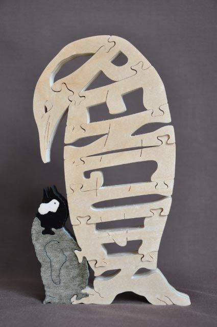 Manchot empereur avec Chick Puzzle animaux arctiques jouet en