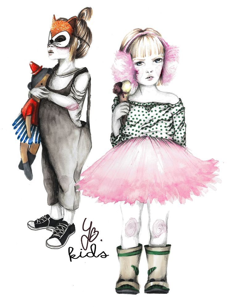 kids fashion illustration yunabluek