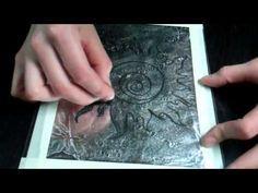 Kitchen Lithography Demo - ing. veg. oil, foil, plexi, cokacola, oil based ink.