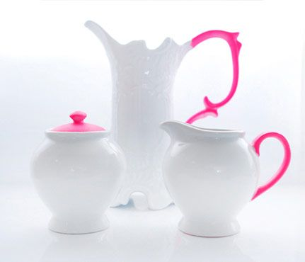 Weekend DIY Projects: Neon-Accented Pottery. Try this if you want to stand out from the Pottery Barn crowd. #SelfMagazine