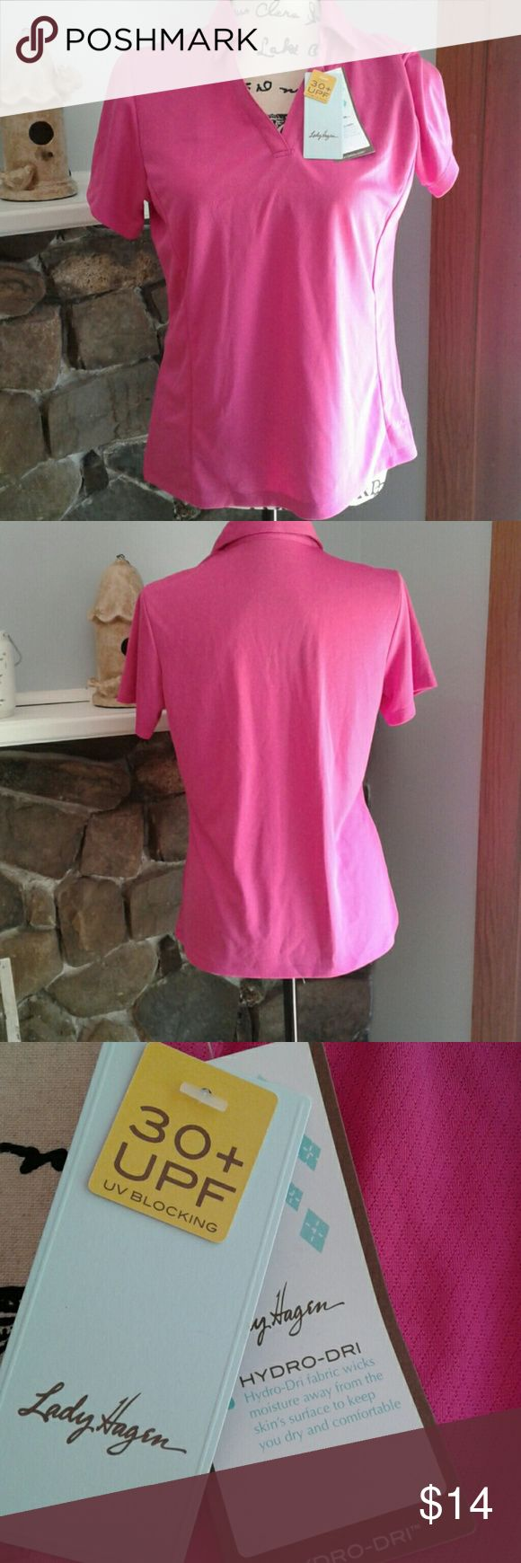 Lady Hagen Tennis Shirt For sale is a wonderful Lady Hagen tennis shirt. UV blocking. Hydro- Dri. Size Medium. NEW WITH TAGS. Offers welcome! Lady Hagen Tops Tees - Short Sleeve