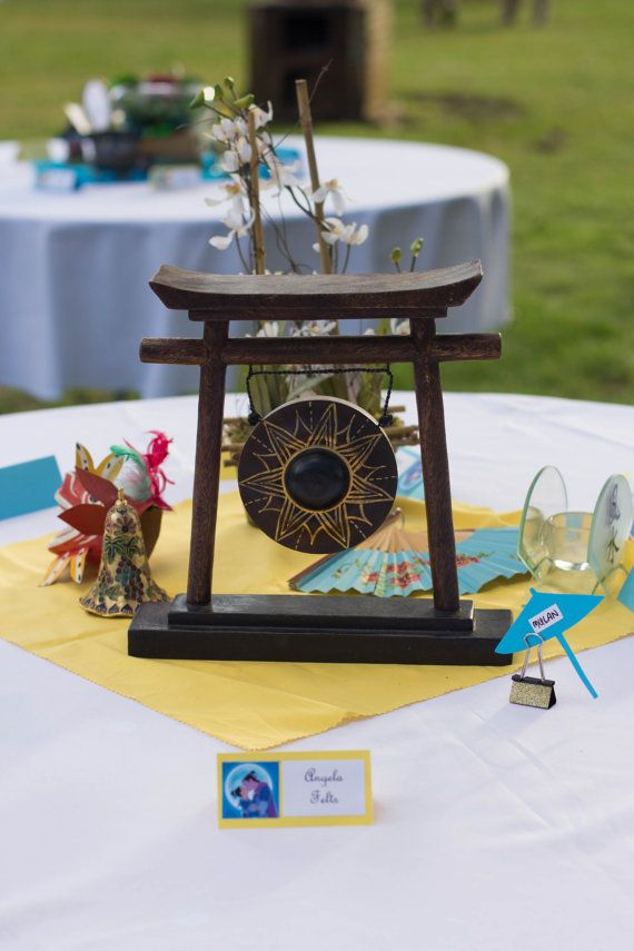 Mulan Wedding Centerpiece by TheDisneyWeddingShop on Etsy
