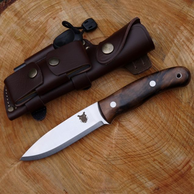 TBS Boar Bushcraft Knife - Live Fire Edition - Carbon Steel and Turkish Walnut