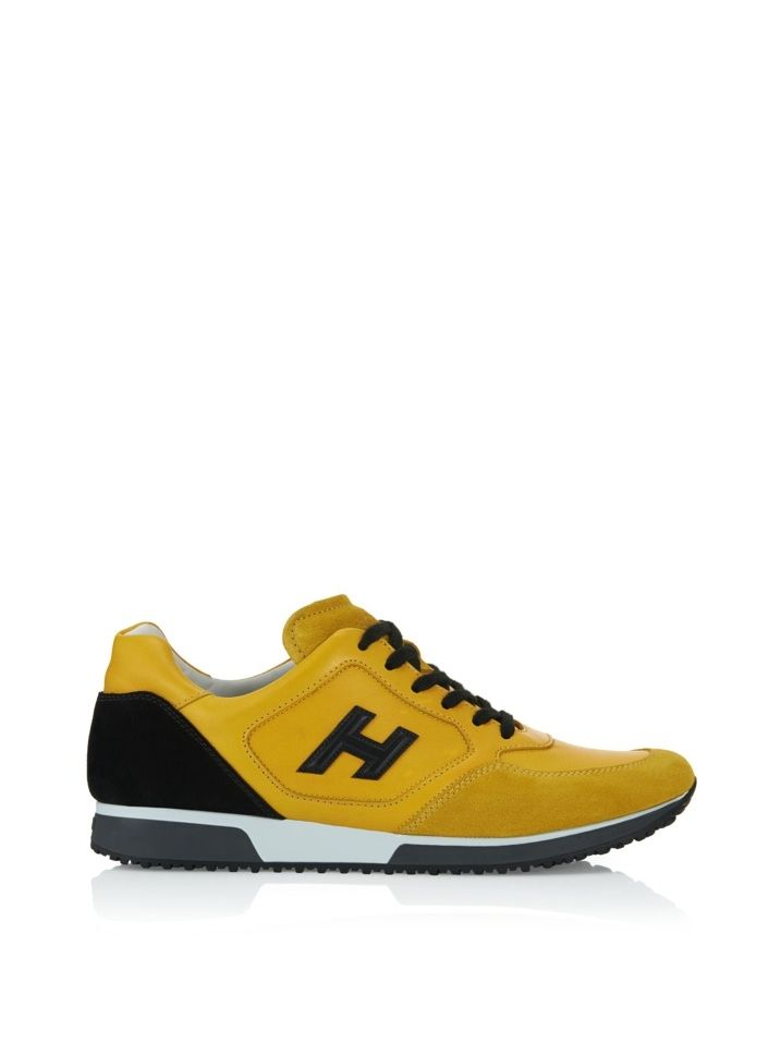 Hogan - H198 - HXM1980L3516H004FX - Leather sneakers with suede panels and leather detail, exposed stitching, embossed Hogan monogram on the side and two-toned outsole. Urban-chic appeal guaranteed. - Leather upperSuede toecap and heelExposed stitchingEmbossed Hogan monogram on the sideTwo-toned rubber outsoleExtractable Fussbett 1 cmDesigner dustbag includedMade in Italy