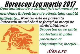 În horoscopul Leului martie 2017 predomină năzuinţa şi şansa de a călători, a beneficia de o conjunc...