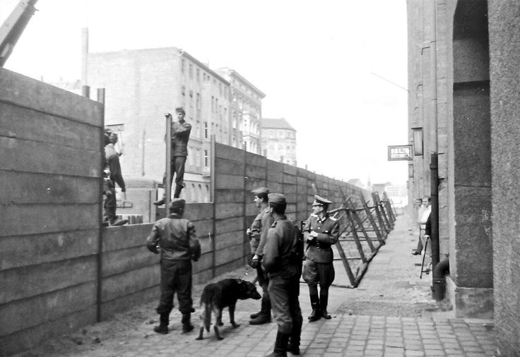 #Berlin Wall Under Construction in 1961