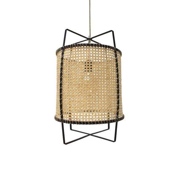 Cane Rattan Pendant Light Bamboo Lamp Boho Fixture Modern