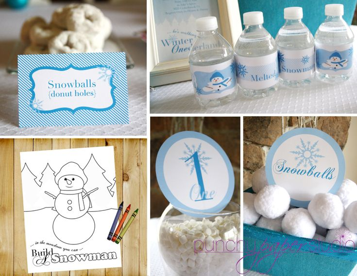 Winter ONEderland Birthday Party Theme  Baby by punchypaperstudio, $27.00