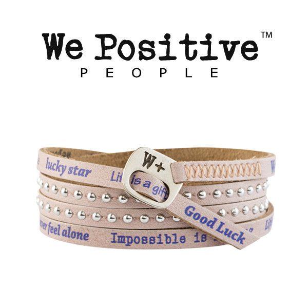Bracciale We Positive Cipria Collezione Holiday Pelle HD004