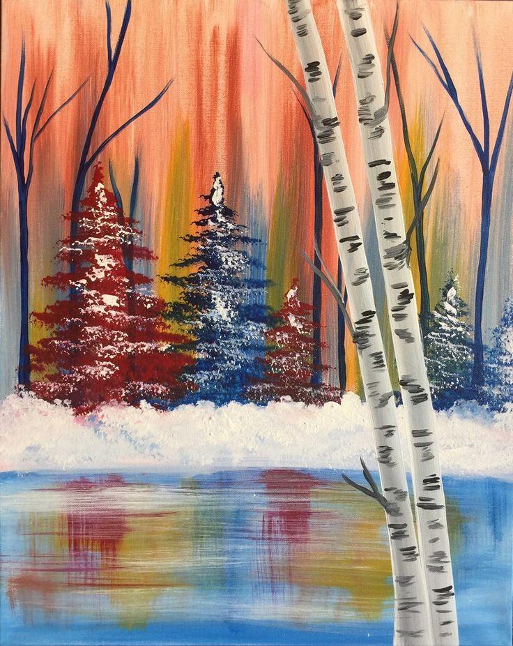 Красивые зимние рисунки гуашью примечательна