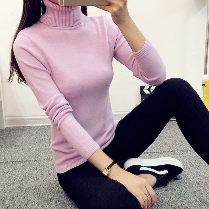 2017 Autumn Winter Women Sweaters and Pullovers Turtleneck Knitted Sweater Outerwear Pullover Tops Sueter Mujer Chandail. Click visit to buy
