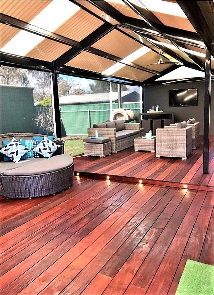 Hardwood Timber Decking Merbau and Colorbond Steel Verandahs | Largs Bay SA