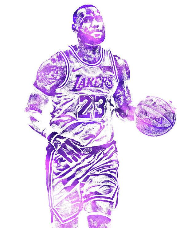 a7fa8046 Lebron James Los Angeles Lakers Water Color Pixel Art 31 Art Print ...