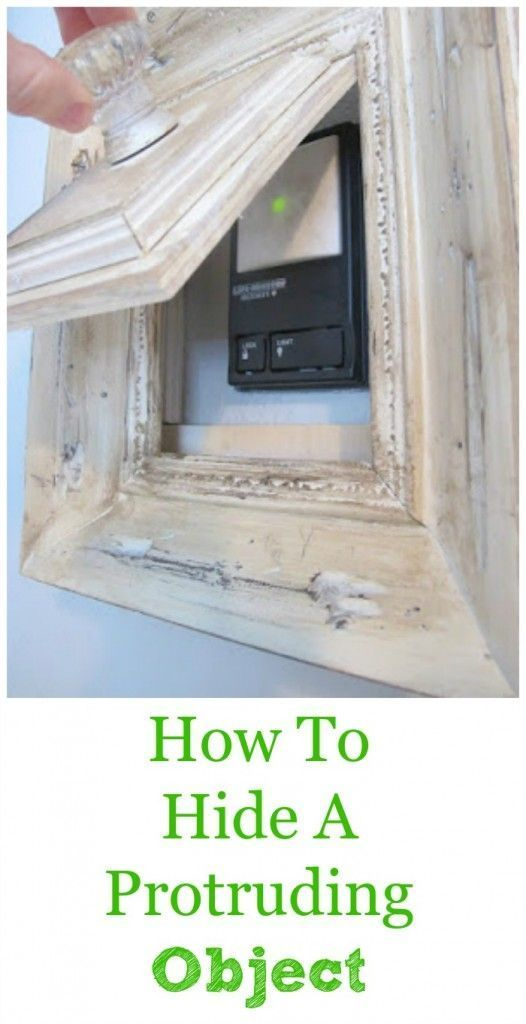 how to hide purtruding items from your wall