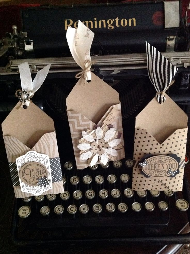 Envelope Punch Board Gift Card Holders