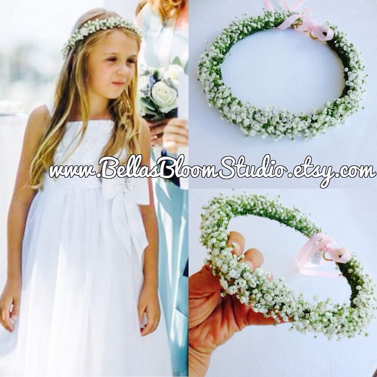 White Flower Crown Wedding  Flower Crown Girl  Flower Crown Toddler Flower girl crown Pearl flower crown wreath  First communion crown etsy by BellasBloomStudio on Etsy https://www.etsy.com/listing/266240040/white-flower-crown-wedding-flower-crown