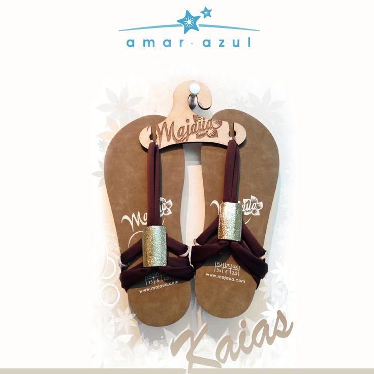 Hermosas sandalias con  herraje dorado o plata.  #Sandalias #beachwear #verano #amarazulswimwear