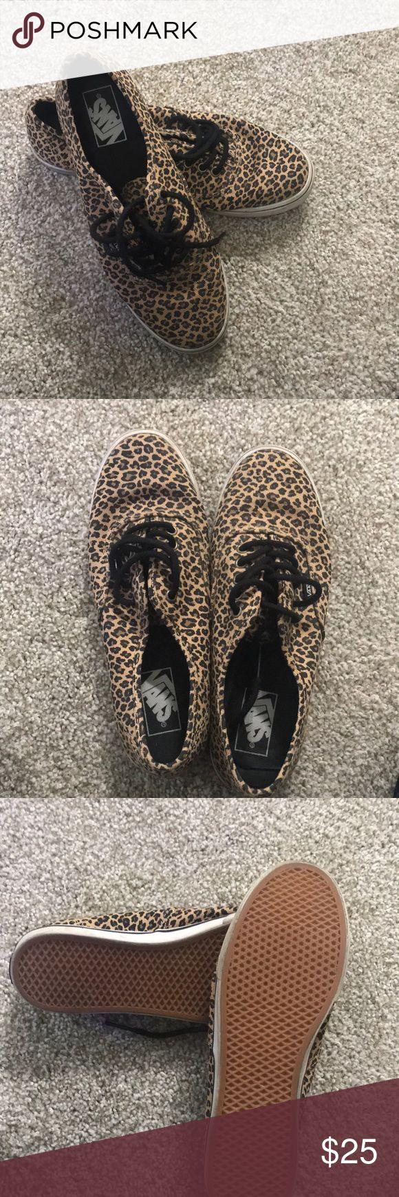Vans Animal Print vans!  Hardly worn Vans Shoes Sneakers