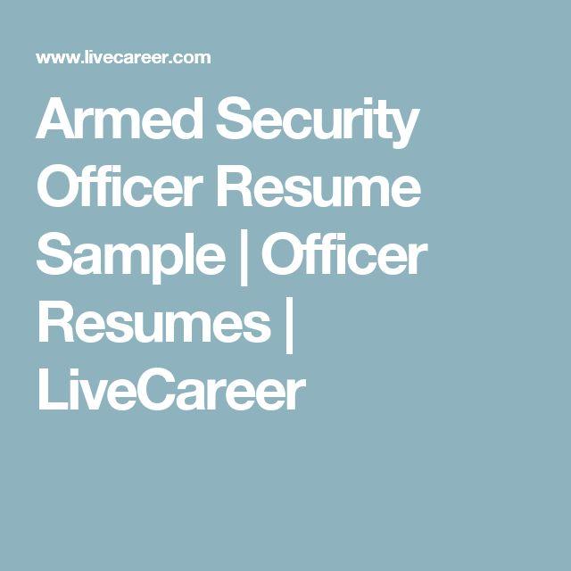 Resume-samples-officer-resumes-armed-security-officer - travelturkey ...