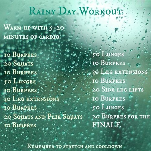 Rainy Day Workout | Practicing Grace