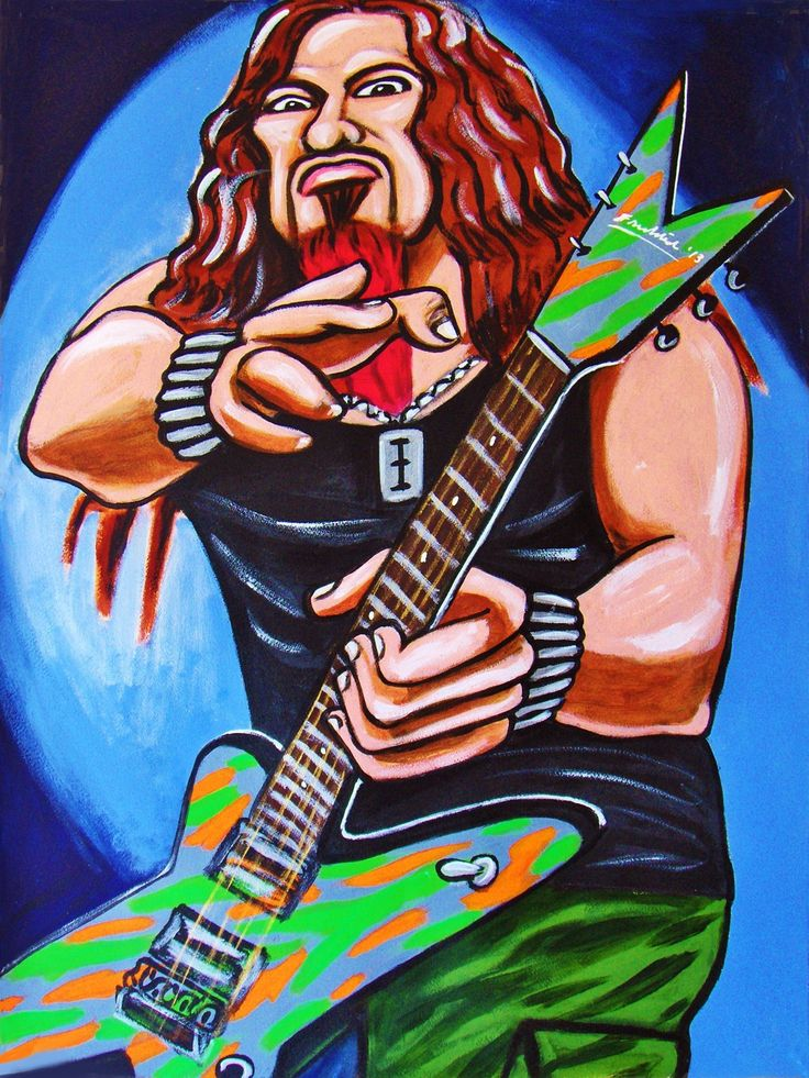 """DIMEBAG DARRELL PRINT POSTER guitar cd lp record album vinyl pantera metal cowboys from hell dean. CHOOSE PRINT SIZES 9x12"""" ($70) or 18x24"""" ($130)-This quality giclee print is part of my extensive portfolio. I am the artist John Froehlich, aka FRO-ART-This is a """"READY TO FRAME"""" REPRODUCTION PRINT on quality gloss archival paper.-PRINT will be professionally packed and shipped in a sturdy mailing tube, via USPS Priority Mail.-My vibrant colored artwork will become a focal point and..."""